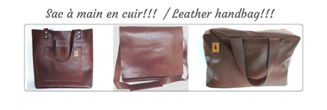 handbag in leather and fur '' Glamour''