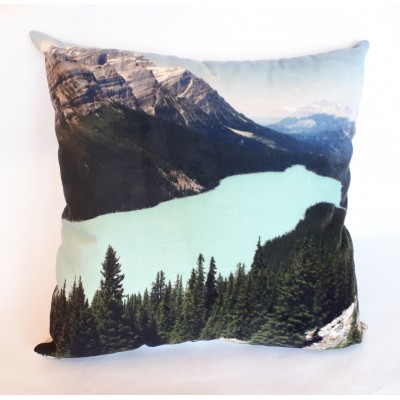 Coussin ''Lac Peyto'' - 22 x 22